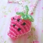 Pink Strawberry Beaded Char..