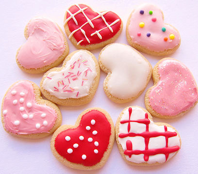 American Girl Doll Valentine's Day Heart Shaped Cookie