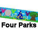 Walt Disney World Inspired Four Parks One World Peyote or Brick Stitch Cuff Bracelet or Bookmark Digital PDF Pattern
